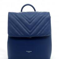 Rucsac albastru David Jones 6250-2BLUE - Geanta sport dama