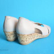 Sandale dama bej nude cu platforma din piele naturala cod S64
