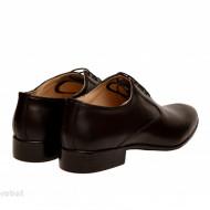 Pantofi barbati piele naturala negri casual-eleganti cod P165N - Editie de LUX