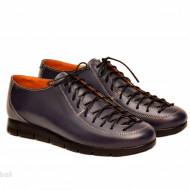 Pantofi dama bleumarin casual-eleganti din piele naturala cod P162BL