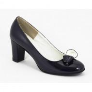 Pantofi dama bleumarin lacuiti din piele naturala cod P333