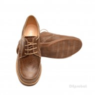 Pantofi dama casual din piele naturala maro cod P98