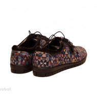 Pantofi dama colorati lucrati manual din piele naturala cod P163 Picasso