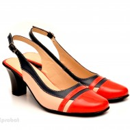 Pantofi dama eleganti din piele naturala cu toc de 7 cm cod P116