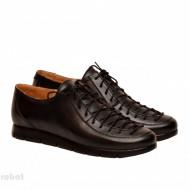 Pantofi dama negri casual-eleganti din piele naturala cod P162N