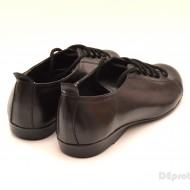 Pantofi dama negri casual-office din piele naturala cod P62