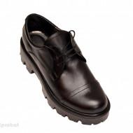 Pantofi dama negri lucrati manual din piele naturala cod P175