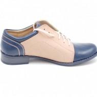 Pantofi dama piele naturala casual cu siret cod P93