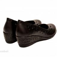 Pantofi dama piele naturala negri cu platforma cod P189 - LICHIDARE STOC 38