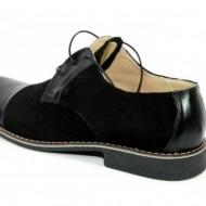 Pantofi negri barbati piele naturala casual-office - cod P85N