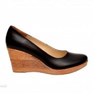 Pantofi negri dama eleganti - casual din piele naturala cod P162