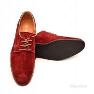 Pantofi visinii barbati piele naturala velur casual-office - cod P119