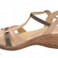 Sandale dama bej din piele naturala cod S25