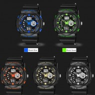 Ceas barbatesc cu dublu afisaj, lumina, cronometru - Ceas pentru inot CC66866B