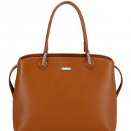 Geanta cognac dama originala David Jones CM6001COGNAC