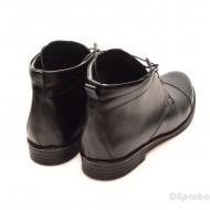 Ghete barbati piele naturala Negre casual-elegante cu siret cod G12CN