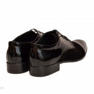 Pantofi barbati piele naturala negri casual-eleganti cod P169N - Editie de LUX