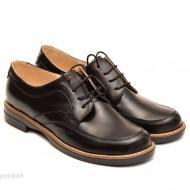 Pantofi dama casual din piele naturala negri cod P99