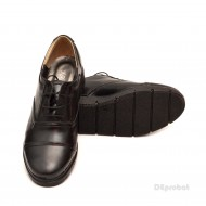 Pantofi dama negri casual-eleganti din piele naturala cod P47N