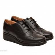 Pantofi dama negri casual-eleganti din piele naturala Oxford Black cod P161
