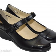 Pantofi dama negri din piele naturala cod P30