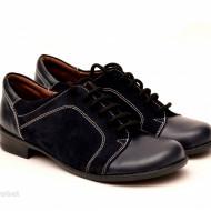 Pantofi dama piele naturala negri cu siret cod P95N - LICHIDARE STOC 38