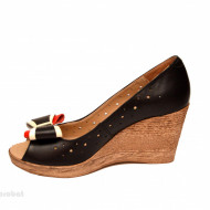 Pantofi negri dama eleganti - casual din piele naturala cod P193