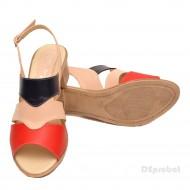 Sandale dama din piele naturala toc 5 cm cod S50