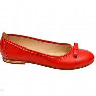 Balerini dama rosii din piele naturala cod B19