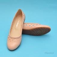 Balerini de vara dama bej din piele naturala cod B21
