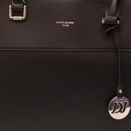 Geanta dama neagra piele originala David Jones 5617-2BLACK - Model cu 3 compartimente
