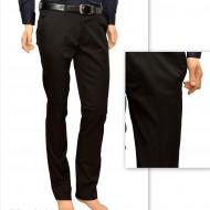 Pantaloni Slim Fit Negri bumbac - Pantaloni barbati eleganti-casual PN23