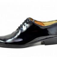 Pantofi barbatesti negri lacuiti din piele naturala casual-eleganti cod P170NLAC