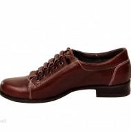 Pantofi dama grena cu siret elastic din piele naturala cod P181GR