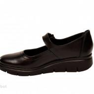 Pantofi dama negri cu bareta din piele naturala cod P179