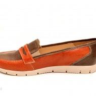 Pantofi dama sport-casual din piele naturala cu elastic cod P107