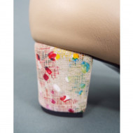 Pantofi eleganti dama bej din piele naturala cod P325