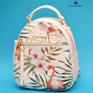 Geanta sport dama David Jones 5923-2WHITE - Rucsac alb model Flamingo