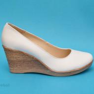 Pantofi albi dama eleganti - casual din piele naturala cod P162ALB