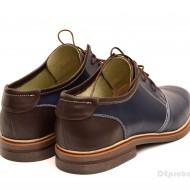 Pantofi barbati piele naturala bleumarin casual cu siret cod P122