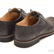 Pantofi barbati piele naturala bleumarin inchis casual-eleganti cu siret cod P45
