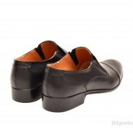 Pantofi barbati piele naturala negri casual-eleganti cod P65NEL - Editie de LUX