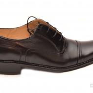 Pantofi barbati piele naturala negri casual-eleganti cu siret cod P16