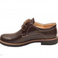 Pantofi dama maro casual-eleganti din piele naturala cod P75 Natasha