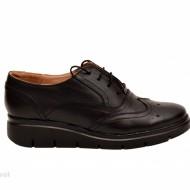 Pantofi dama negri casual-eleganti din piele naturala Oxford Black cod P161N
