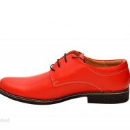 Pantofi rosii barbati piele naturala casual-office - cod P96