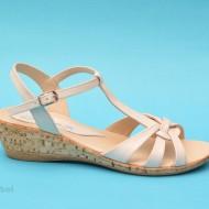 Sandale albe dama din piele naturala cod S44