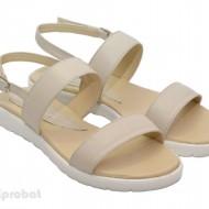 Sandale dama piele naturala bej cu talpa joasa cod S21