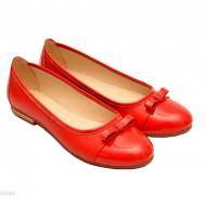 Balerini dama rosii din piele naturala cod B19 - LICHIDARE STOC 39, 40
