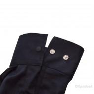 Camasa Bleumarin Slim Fit cu capse Casual-Eleganta - Camasa bleumarin bumbac barbati ZR57